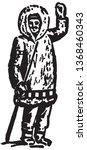 eskimo   retro ad art banner | Shutterstock .eps vector #1368460343