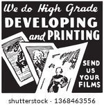 developing and printing   retro ... | Shutterstock .eps vector #1368463556