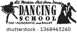 dancing school   retro ad art... | Shutterstock .eps vector #1368465260