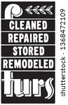 cleaned repaired furs   retro... | Shutterstock .eps vector #1368472109