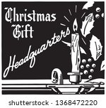 christmas gift headquarters   ... | Shutterstock .eps vector #1368472220