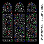 bright mesh ammo with lightspot ... | Shutterstock .eps vector #1368474803