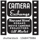camera exchange   retro ad art... | Shutterstock .eps vector #1368475886