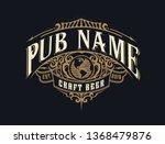 vintage pub logo. vector layered | Shutterstock .eps vector #1368479876