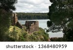 Small photo of sarah island penal settlement ruins in macquarie harbour, tasmania