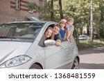 happy family with children... | Shutterstock . vector #1368481559