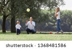 happy family with their little... | Shutterstock . vector #1368481586