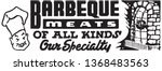 barbecue meats of all kinds  ... | Shutterstock .eps vector #1368483563