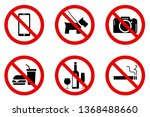 ban signs in certain areas | Shutterstock .eps vector #1368488660