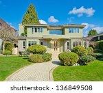 big custom made luxury house... | Shutterstock . vector #136849508