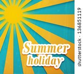 summer background. vector... | Shutterstock .eps vector #136851119