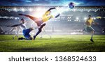 soccer players on stadium in... | Shutterstock . vector #1368524633