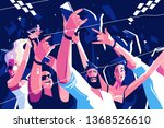 noisy funny crowd vector... | Shutterstock .eps vector #1368526610