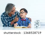 portrait of father or... | Shutterstock . vector #1368528719