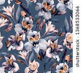 Moody Watercolor Alstroemeria...