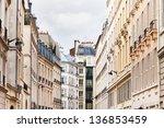 Paris Buildings In Cloudy...