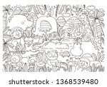 big coloring christmas page... | Shutterstock .eps vector #1368539480