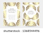bronze floral decor. stylish... | Shutterstock .eps vector #1368544496