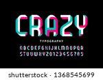 impossible shape font design ... | Shutterstock .eps vector #1368545699