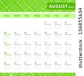 august 2013 planning calendar... | Shutterstock .eps vector #136855634