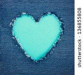 Blue Vintage Heart Shape For...