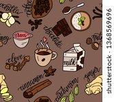 spices for coffee. vector... | Shutterstock .eps vector #1368569696