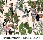 seamless pattern tropical... | Shutterstock .eps vector #1368570020