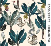 seamless pattern tropical...   Shutterstock .eps vector #1368570026