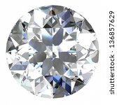 diamond jewel  high resolution... | Shutterstock . vector #136857629