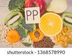 nutritious ingredients or... | Shutterstock . vector #1368578990