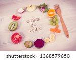 fresh healthy nutritious fruits ... | Shutterstock . vector #1368579650