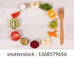 fresh healthy nutritious food... | Shutterstock . vector #1368579656