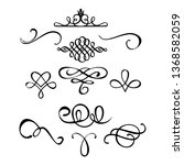decorative monograms and...   Shutterstock .eps vector #1368582059