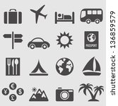 travel icons set.vector | Shutterstock .eps vector #136859579