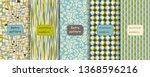 set of retro seamless patterns... | Shutterstock .eps vector #1368596216