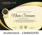 premium golden black...   Shutterstock .eps vector #1368602450