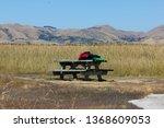 bench at walk of ss waverly... | Shutterstock . vector #1368609053