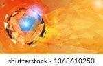 orange polygonal abstract... | Shutterstock .eps vector #1368610250
