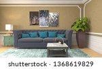 interior of the living room. 3d ...   Shutterstock . vector #1368619829