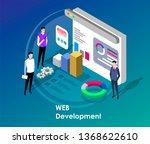 people team work together in... | Shutterstock .eps vector #1368622610
