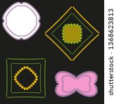graphic set of square and round ... | Shutterstock .eps vector #1368623813
