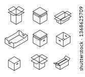 set of different cardboard... | Shutterstock . vector #1368625709