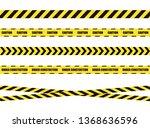Stop Tapes Set  Dangerous Zone...