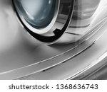 luminous car headlight. macro...   Shutterstock . vector #1368636743