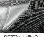 perforated panel of loudspeaker....   Shutterstock . vector #1368636923