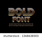 vector 3d bold font. stylish... | Shutterstock .eps vector #1368638303