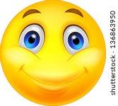 happy smiley emoticon face | Shutterstock .eps vector #136863950