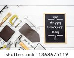 happy workers' day background... | Shutterstock . vector #1368675119