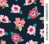 floral seamless pattern. vector ... | Shutterstock .eps vector #1368682493