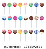 Vector Set Of Colorful Cake...